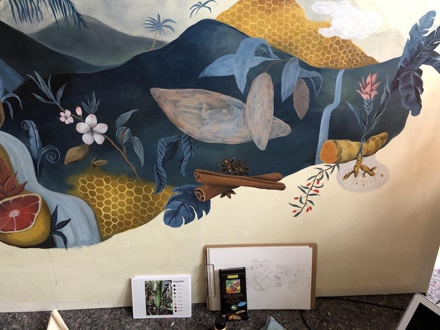Acrylmalerei auf selbst gebauter Leinwand