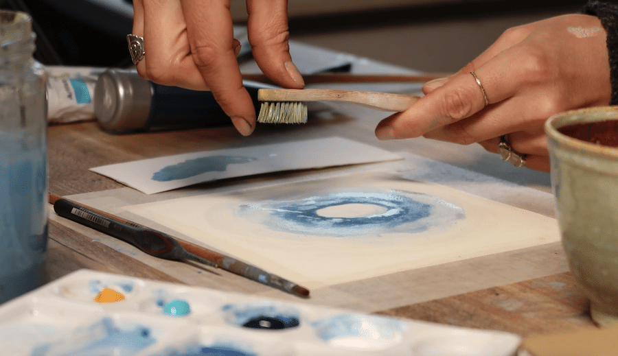 Mandala Malen mit Blau