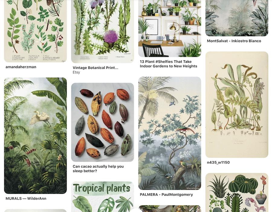 Mandala malen mit Pflanzen