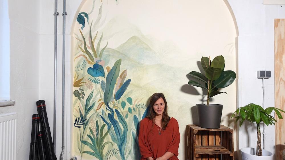 Wandmalerei mit Acrylfarben
