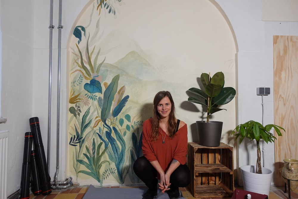 Die zweite Wandmalerei im neuen Atelier :)